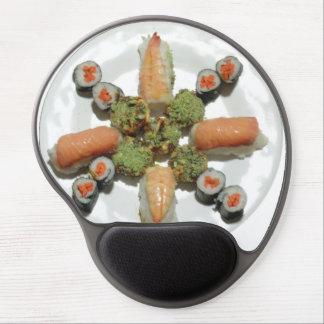 Sushi en un mousepad alfombrilla gel