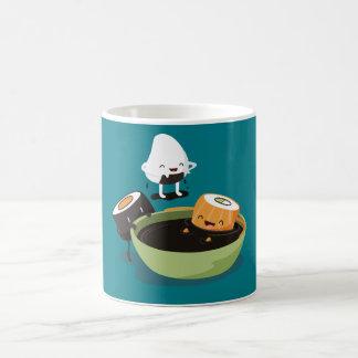 Sushi enjoy bath time funny coffee mug