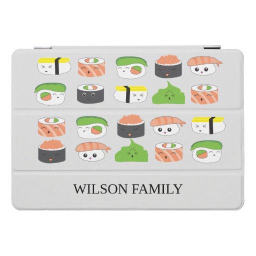 Sushi Family Illustration Personalized iPad Pro Cover