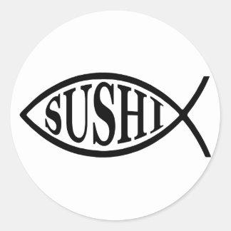 Sushi Fish Classic Round Sticker