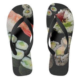Sushi Flip Flops