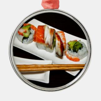 Sushi Food Restaurant Eat Exotic Meals Fast Food Metal Ornament