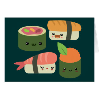 Sushi Friends Greeting Card