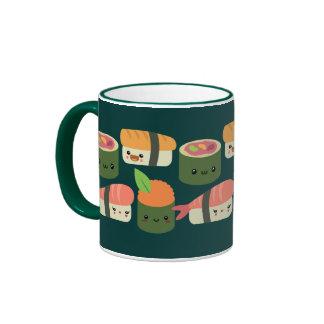 Sushi Friends Ringer Coffee Mug