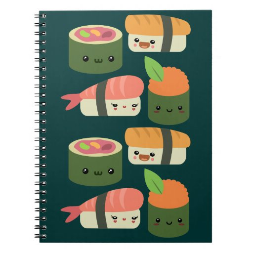 Sushi Friends Notebooks