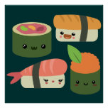 Sushi Friends Posters
