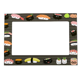 Sushi Friends - Sashimi, Rolls, Wasabi and Ginger Magnetic Picture Frame