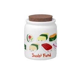Sushi Fund cute change jar Candy Jars