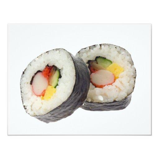 Sushi - Futomaki 4.25x5.5 Paper Invitation Card