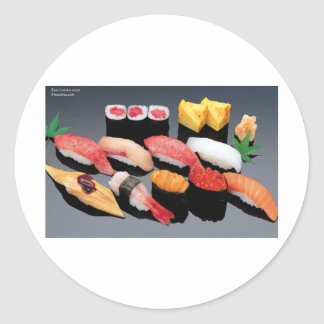 Sushi Gifts Tees Mugs Cards More Round Sticker