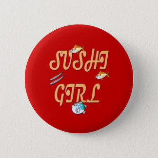 Sushi Girl Pinback Button