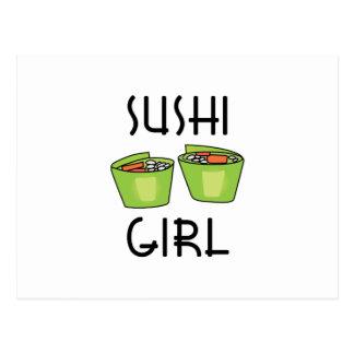 SUSHI GIRL POSTCARD