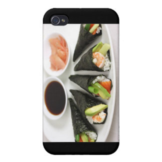 Sushi Hand Roll Gifts Mugs Etc by Rick London Cover For iPhone 4