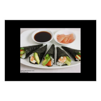 Sushi Hand Roll Poster by Rick London Print