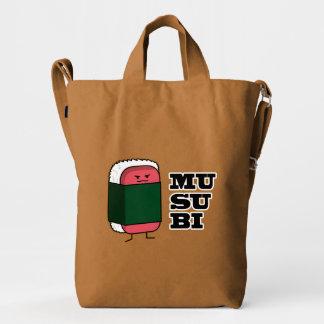 Sushi hawaiano feliz del Spam de Musubi Bolsa De Lona Duck
