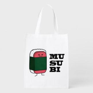 Sushi hawaiano feliz del Spam de Musubi Bolsas Para La Compra