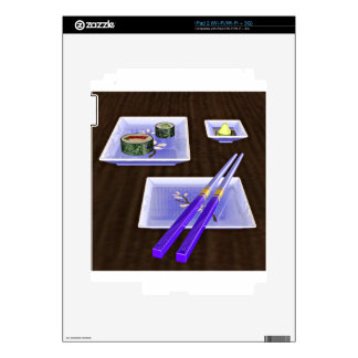 Sushi in Blue Decals For The iPad 2
