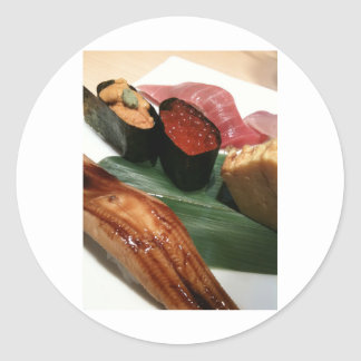 Sushi in Japan Classic Round Sticker