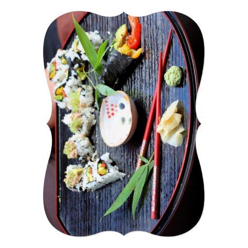 Sushi Invitación Personalizada