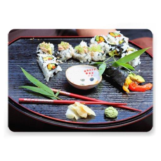 Sushi Invitaciones Personalizada