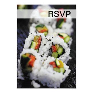 """Sushi Invitación 3.5"""" X 5"""""""