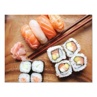 """Sushi Invitación 4.25"""" X 5.5"""""""