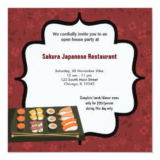 """Sushi Invitación 5.25"""" X 5.25"""""""