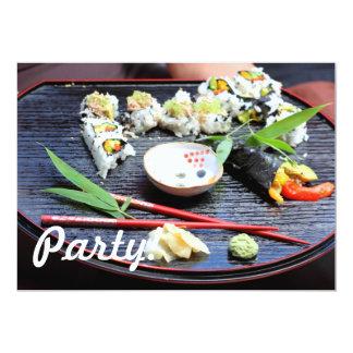 """Sushi Invitación 5"""" X 7"""""""