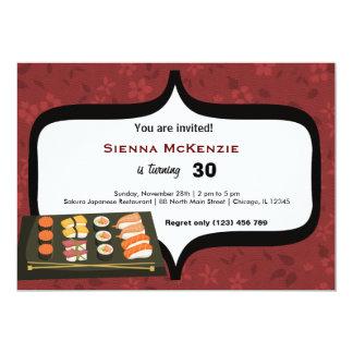 Sushi 5x7 Paper Invitation Card