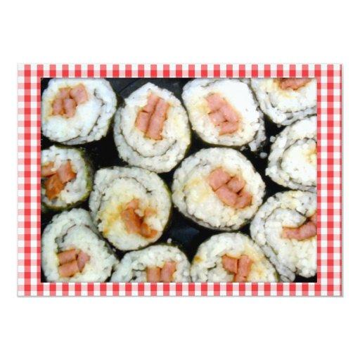 """Sushi-Invitation_ Invitación 5"""" X 7"""""""