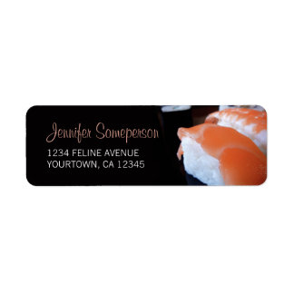 Sushi Japanese Cuisine Return Address Labels