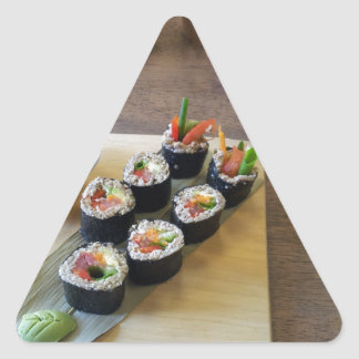 Sushi Japanese Food Delicious Restaurant Lunch Triangle Sticker