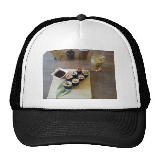 Sushi Japanese Food Delicious Restaurant Lunch Trucker Hat