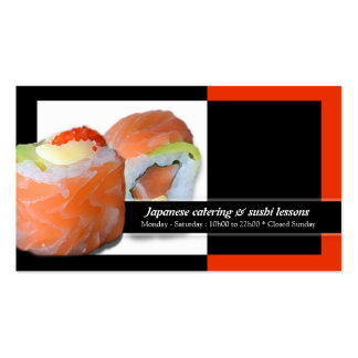 Sushi Japanese restaurant catering lessons Double-Sided Standard Business Cards (Pack Of 100)