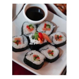 Sushi Japanese Restaurant Sauce Postcard