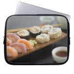 Sushi japonés tradicional fundas computadoras