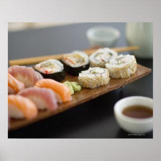 Sushi japonés tradicional posters