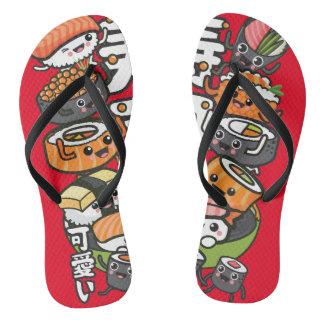 Sushi Kawaii Flip Flops