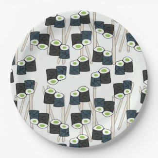Sushi-licious Paper Plate