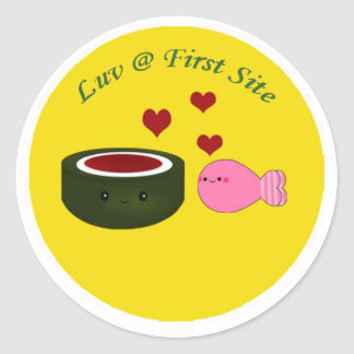 Sushi Love at First Site Classic Round Sticker