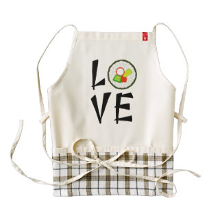 Sushi Love Zazzle HEART Apron