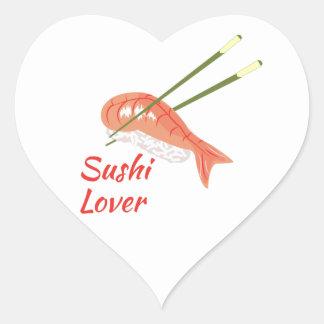 Sushi Lover Heart Sticker
