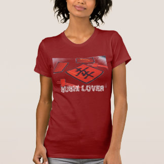 """""""SUSHI LOVER"""" WOMENS RED TEE"""