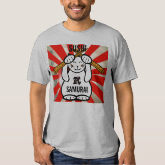 Sushi Maneki Neko Samurai Shirt