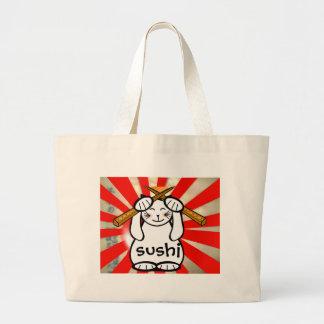 Sushi Maneki Neko Tote Tote Bags