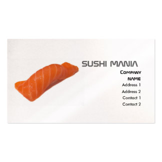 SUSHI MANIA Profile Card Double-Sided Standard Business Cards (Pack Of 100)