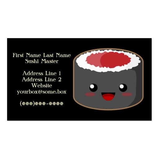Sushi Master Business Card Template