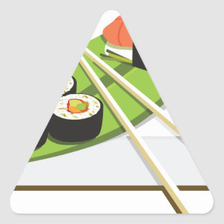 Sushi Meal Triangle Sticker