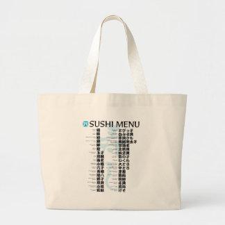 Sushi menu-Jpanese Canvas Bag