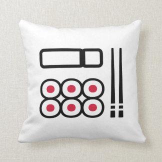 Sushi menu throw pillow